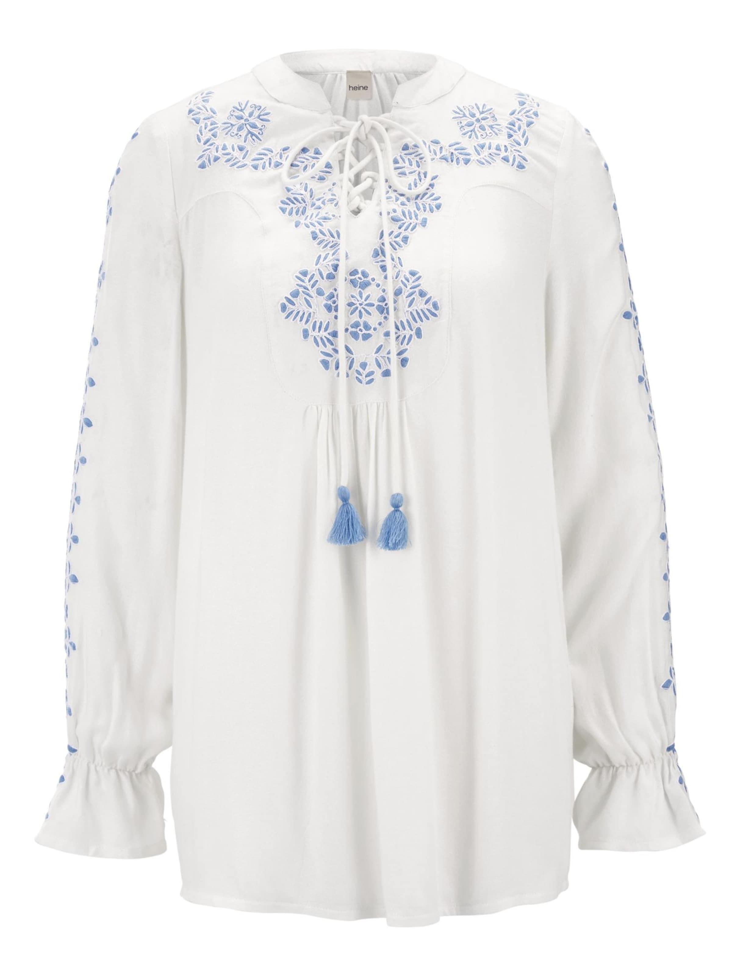 Bluse Bluse In RoyalblauOffwhite In Heine Heine wPnOk80
