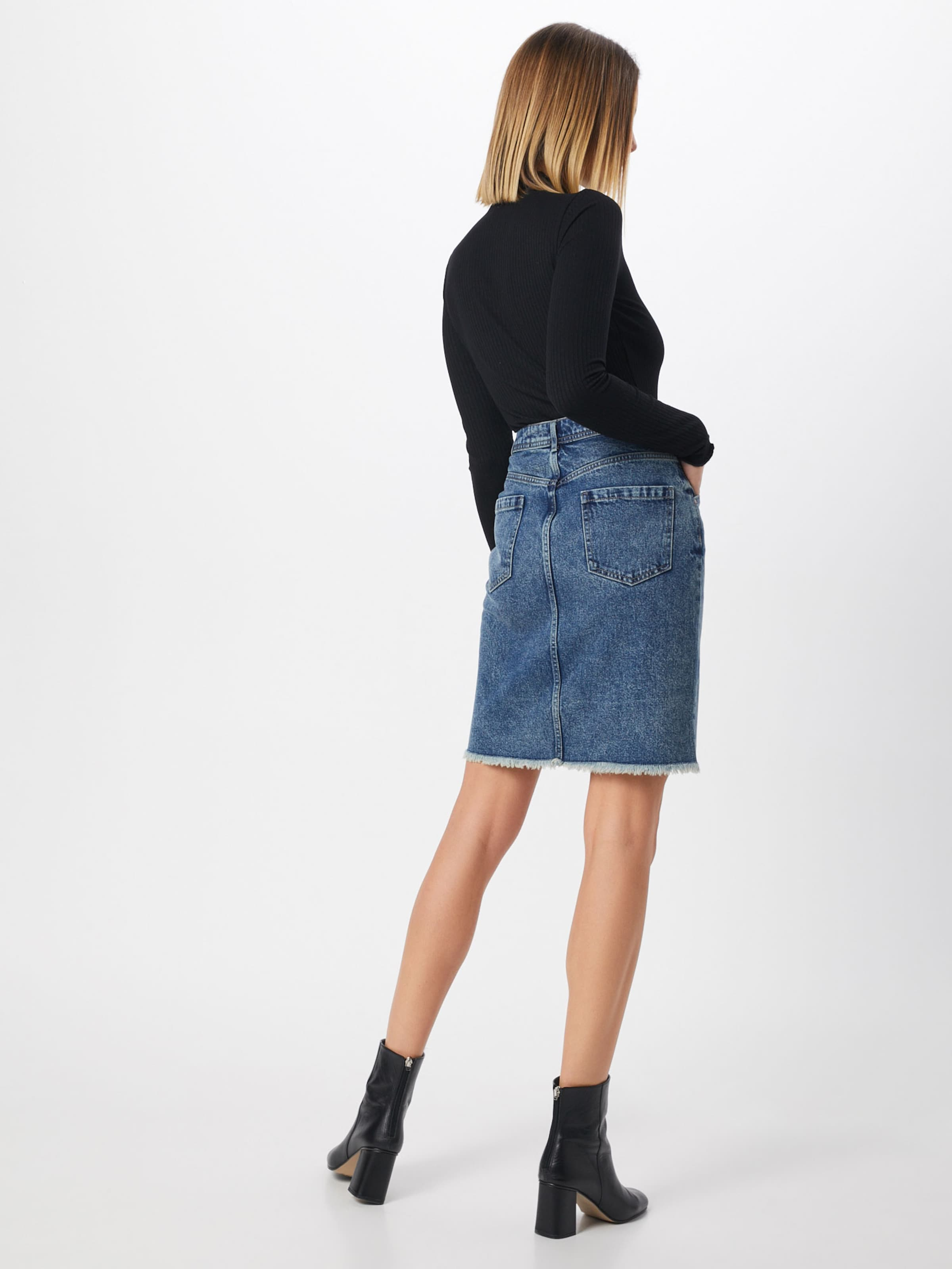 Pieces Denim Bleu 'cilla' Jupe En QWoCBrxde