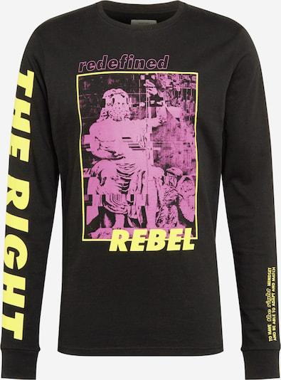 Redefined Rebel T-Shirt 'Dillon' en jaune / violet / noir, Vue avec produit