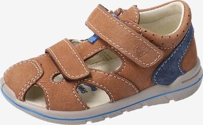 Pepino Sandale in blau / hellbraun: Frontalansicht