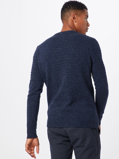 Only & Sons Pullover 'onsHOWARD 7 SOFT CREW NECK KNIT' in dunkelblau: Rückansicht