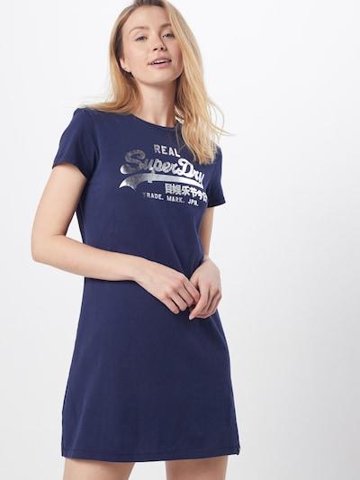 Superdry Šaty - námornícka modrá / strieborná, Model/-ka