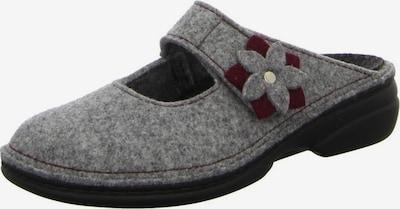 Finn Comfort Huisschoenen in de kleur Grijs / Bordeaux, Productweergave