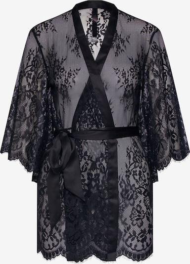 Hunkemöller Dressing gown 'Lace Isabella' in Black, Item view