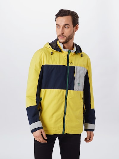 Pepe Jeans Tussenjas 'PRESTON' in de kleur Navy / Geel / Wit: Vooraanzicht