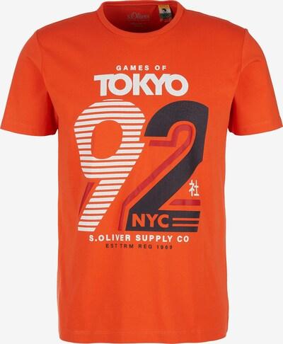 s.Oliver T-Shirt in orange / schwarz / weiß: Frontalansicht