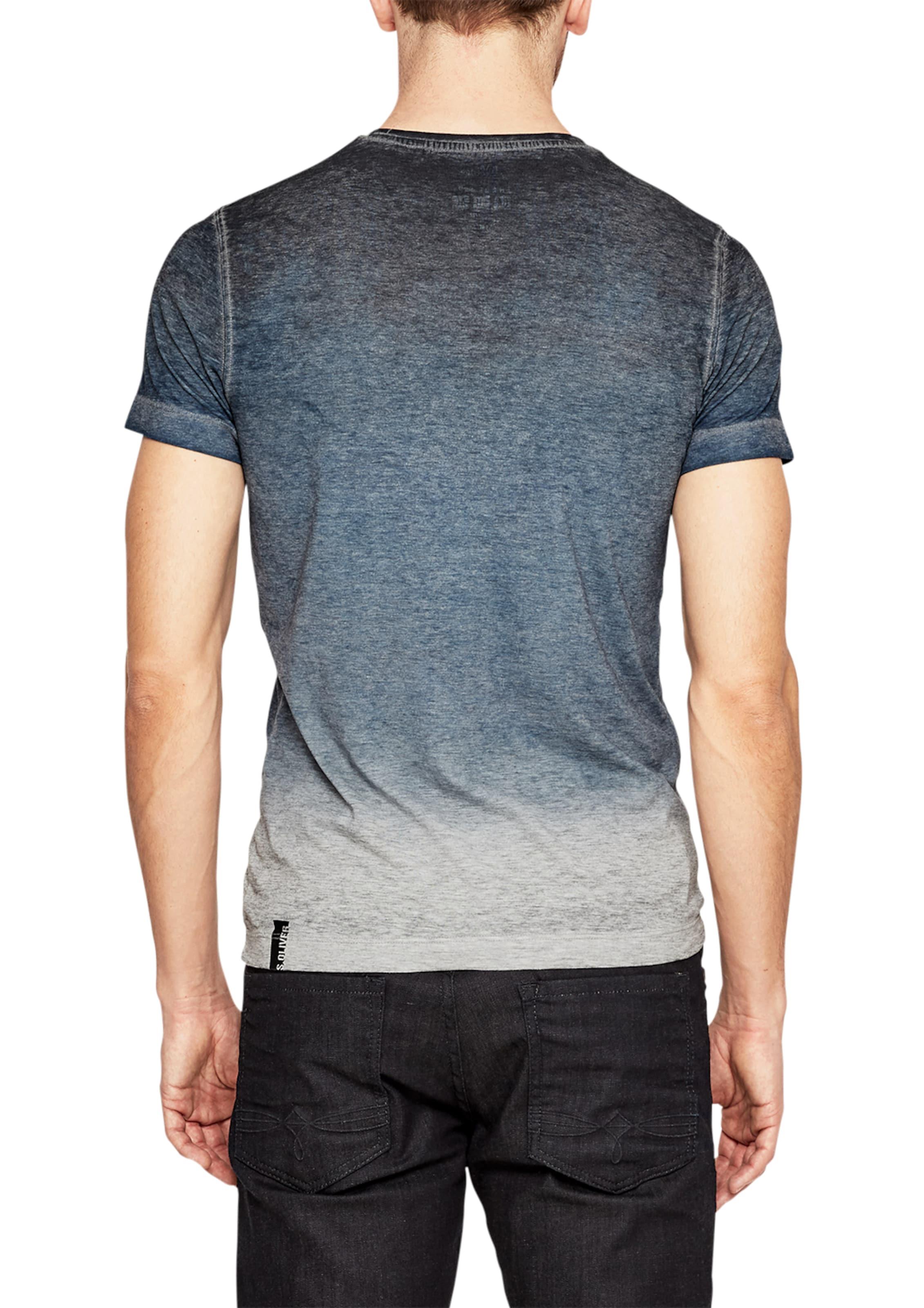 s.Oliver RED LABEL Jerseyshirt im Vintage-Look Heiß nu9fBWeb