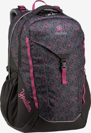 DEUTER Rucksack / Daypack ' Ypsilon ' in grau / rosa / schwarz: Frontalansicht