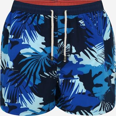 TOM TAILOR Badeshorts 'Lumos' in royalblau / himmelblau / dunkelblau / mischfarben / weiß, Produktansicht