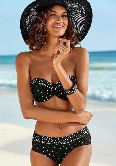 LASCANA Bikini in schwarz / weiß, Modelansicht