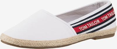 TOM TAILOR Slipper in rot / weiß, Produktansicht