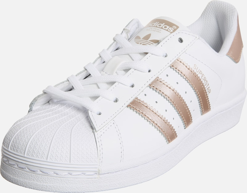 ADIDAS ORIGINALS Baskets basses 'Superstar' en or / blanc, Vue avec produit