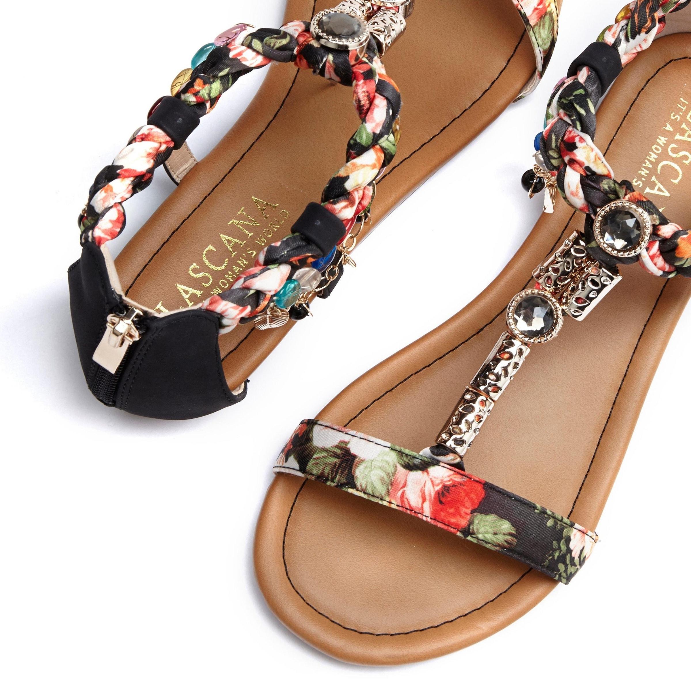 LASCANA Sandal i svart