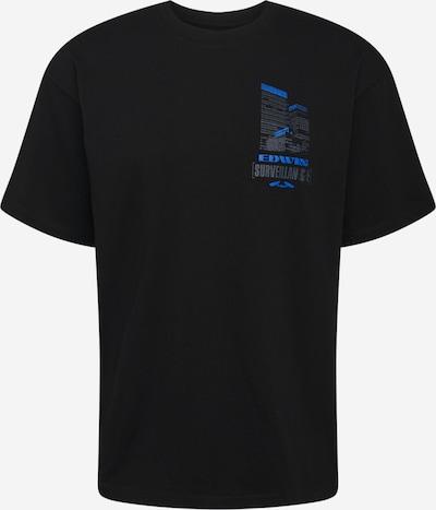 EDWIN Tričko 'Surveillance' - nebeská modř / grafitová / černá, Produkt