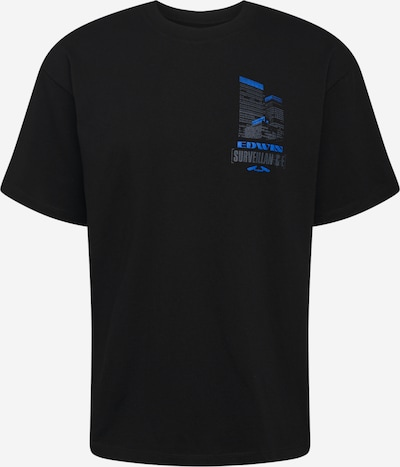 EDWIN Shirt 'Surveillance' in de kleur Hemelsblauw / Grafiet / Zwart, Productweergave