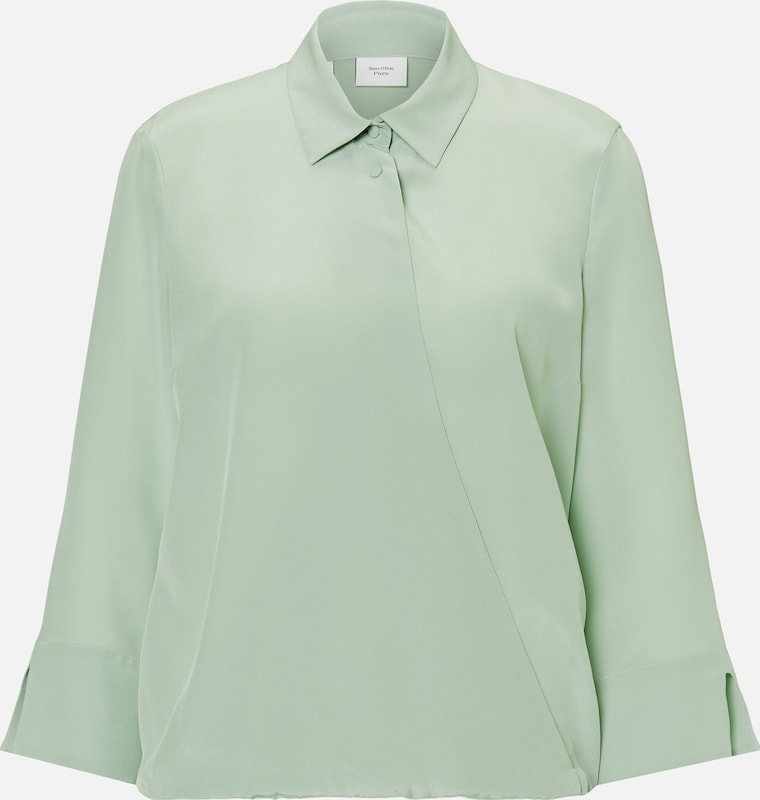 Marc O'Polo Pure Blusenshirt in mint, Produktansicht