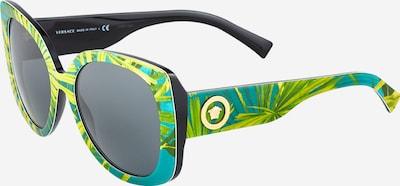 VERSACE Sonnenbrille in gold / dunkelgrau / jade / hellgrün, Produktansicht
