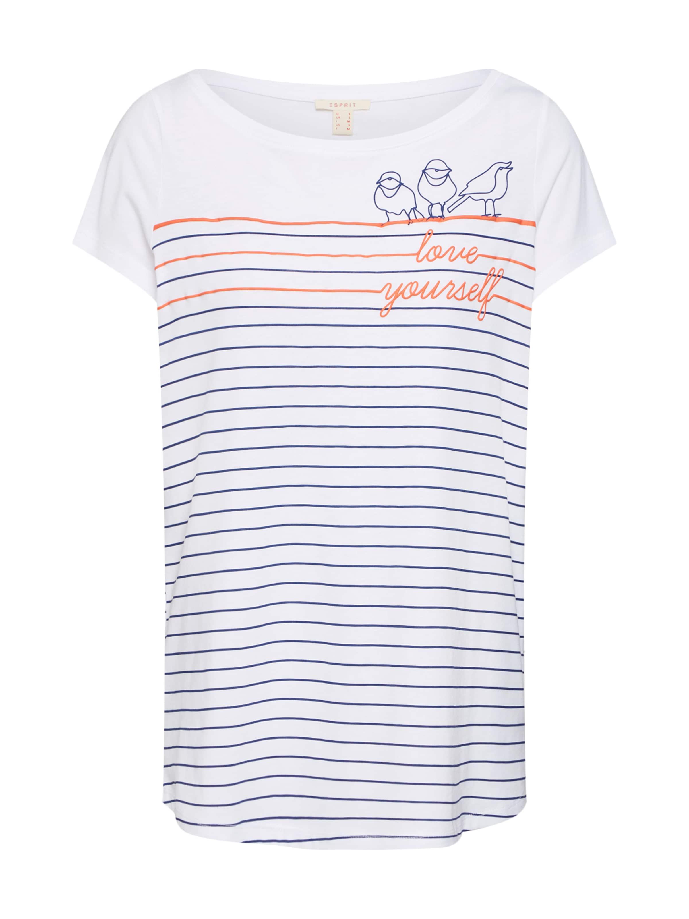 Esprit shirt Blanc Noir Orange En T 'anchor' TfPaTqUZ