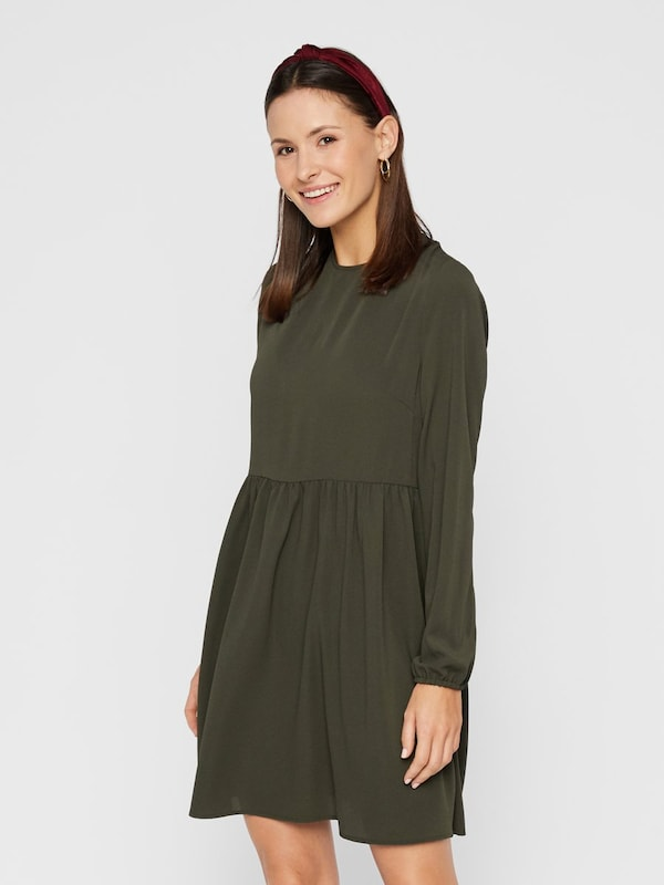 PIECES Kleid in khaki: Frontalansicht