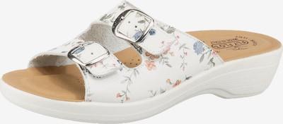 FLY FLOT 855343 Komfort-Pantoletten in mischfarben / weiß, Produktansicht