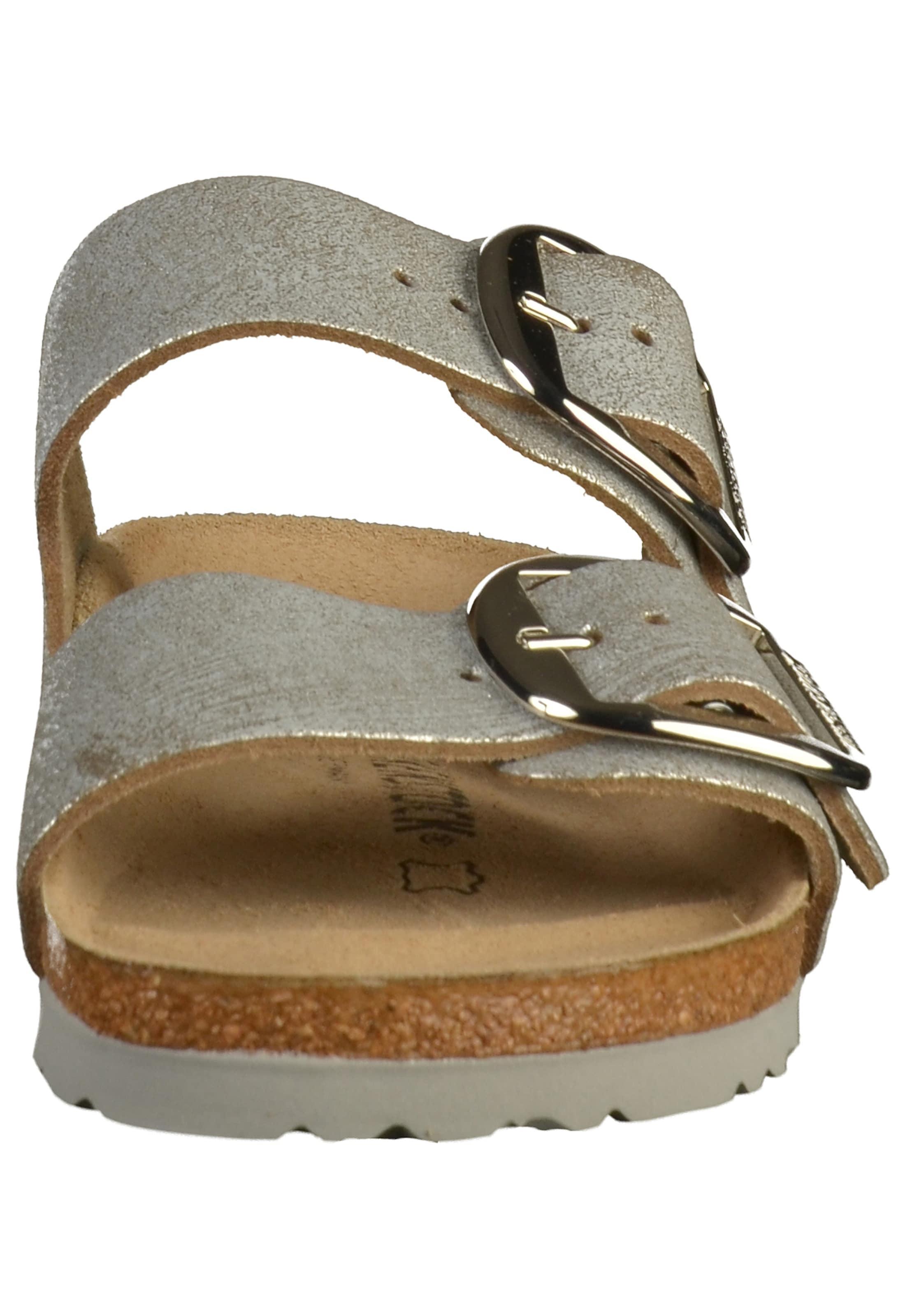 'arizona Big Buckle' Pantoletten Birkenstock In Silber 5Rc3ALqS4j