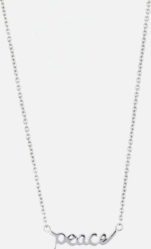 ESPRIT Damen Halskette Silber Peace Message ESNL92219B420