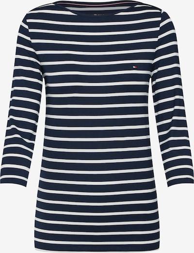 TOMMY HILFIGER Shirt 'HERITAGE BOAT NECK T' in de kleur Navy / Wit, Productweergave