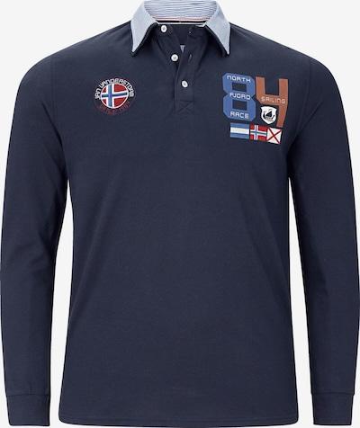 Jan Vanderstorm Poloshirt 'Trols' in navy / mischfarben, Produktansicht