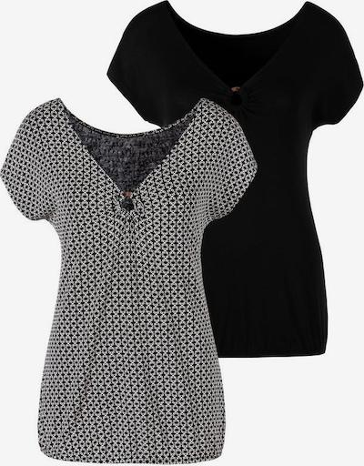 LASCANA T-Shirt in schwarz / weiß, Produktansicht