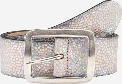 VANZETTI Ledergürtel mit Effekt-Muster in silber, Produktansicht