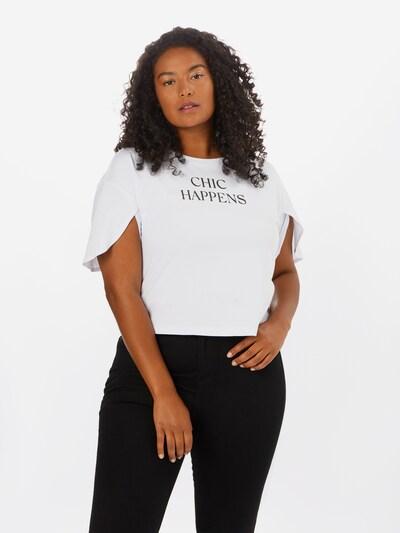 Guido Maria Kretschmer Curvy Collection Shirt 'Alena' in weiß, Modelansicht