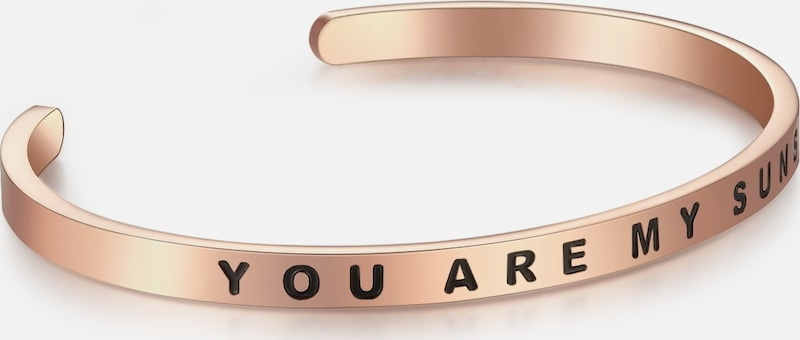 Nahla Jewels Armband mit YOU ARE MY SUNSHINE-Schriftzug