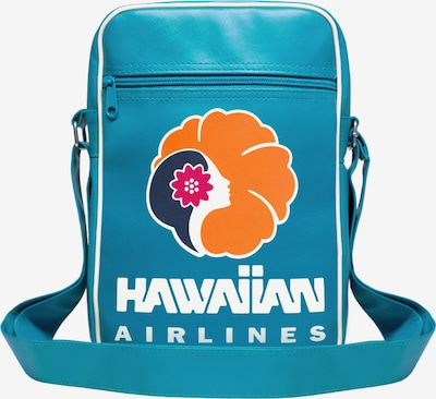 LOGOSHIRT Tasche 'Hawaiian Airlines' in himmelblau / orange / weiß, Produktansicht