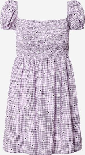 Motel Šaty 'Eldre' - fialová / bílá, Produkt