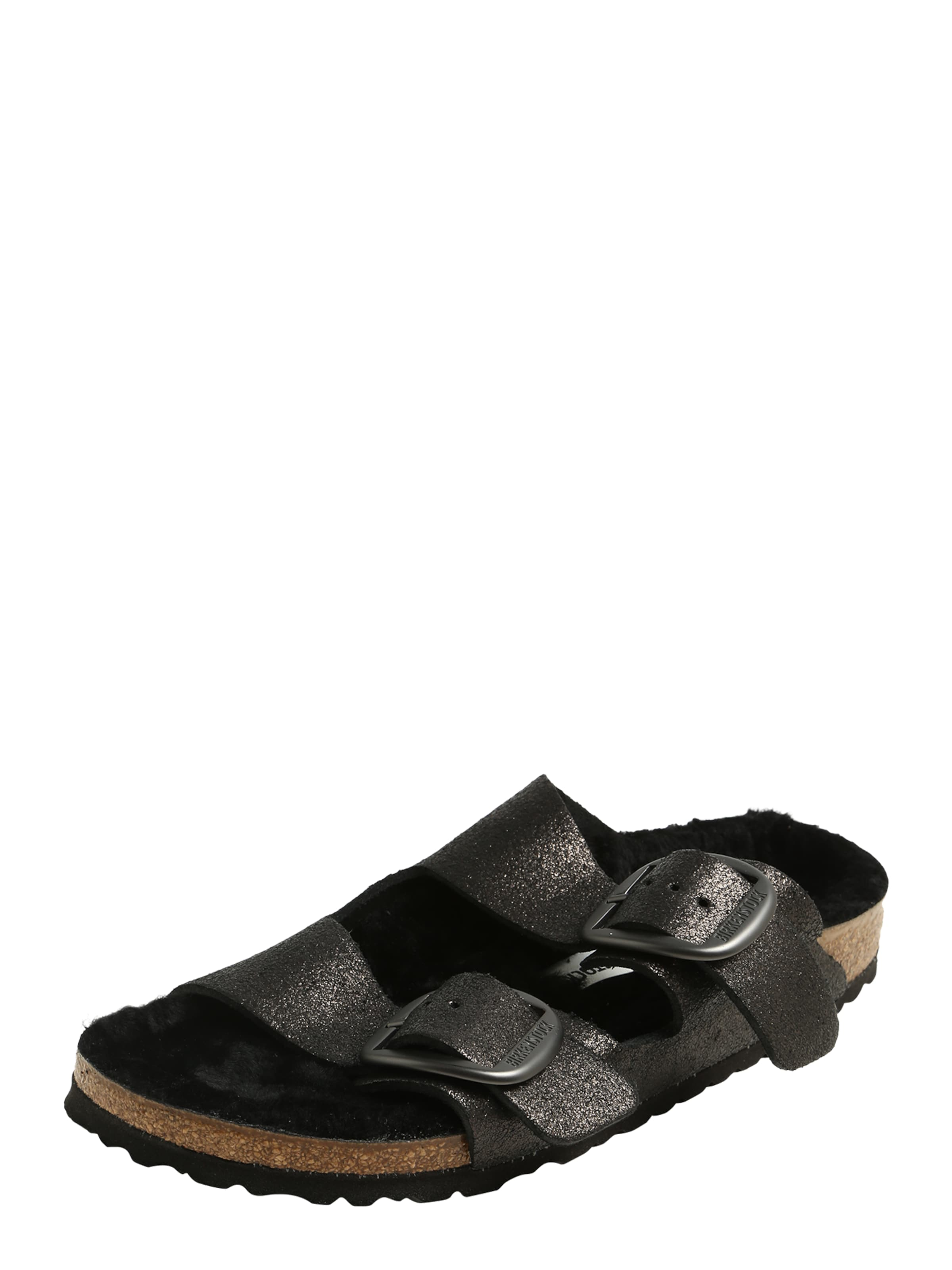 'arizona Big Schwarz Birkenstock In Pantoletten Buckle' 80OnPwk