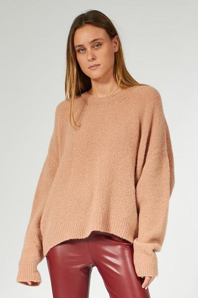 BLOOM Oversized trui in de kleur Bruin: Vooraanzicht