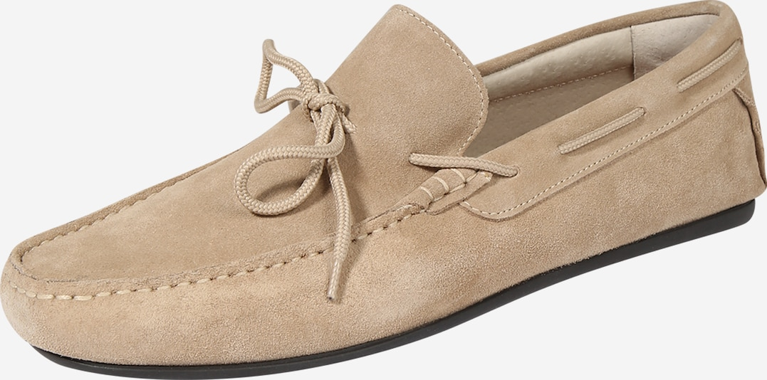SELECTED HOMME Slipper 'SLHSERGIO DRIVE SUEDE SHOE W' in beige, Produktansicht