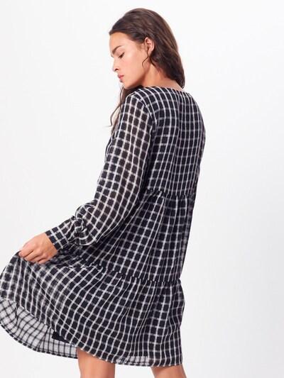 PIECES Kleid 'PCLIA LS DRESS D2D' in schwarz / weiß: Rückansicht
