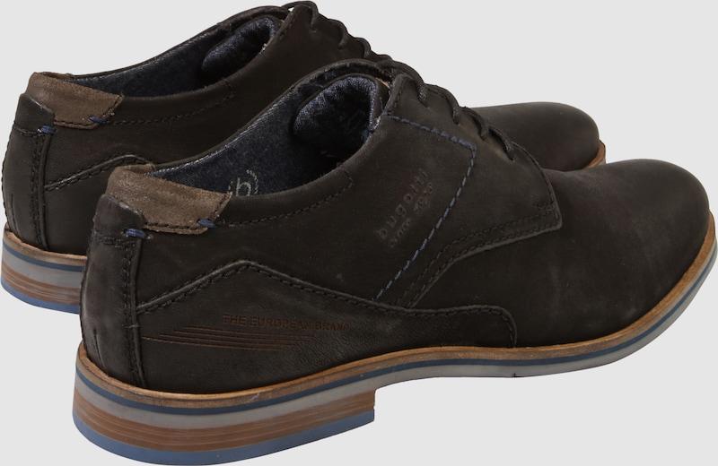 bugatti Leder-Schnürer Used-Look im Used-Look Leder-Schnürer Verschleißfeste billige Schuhe d5b171