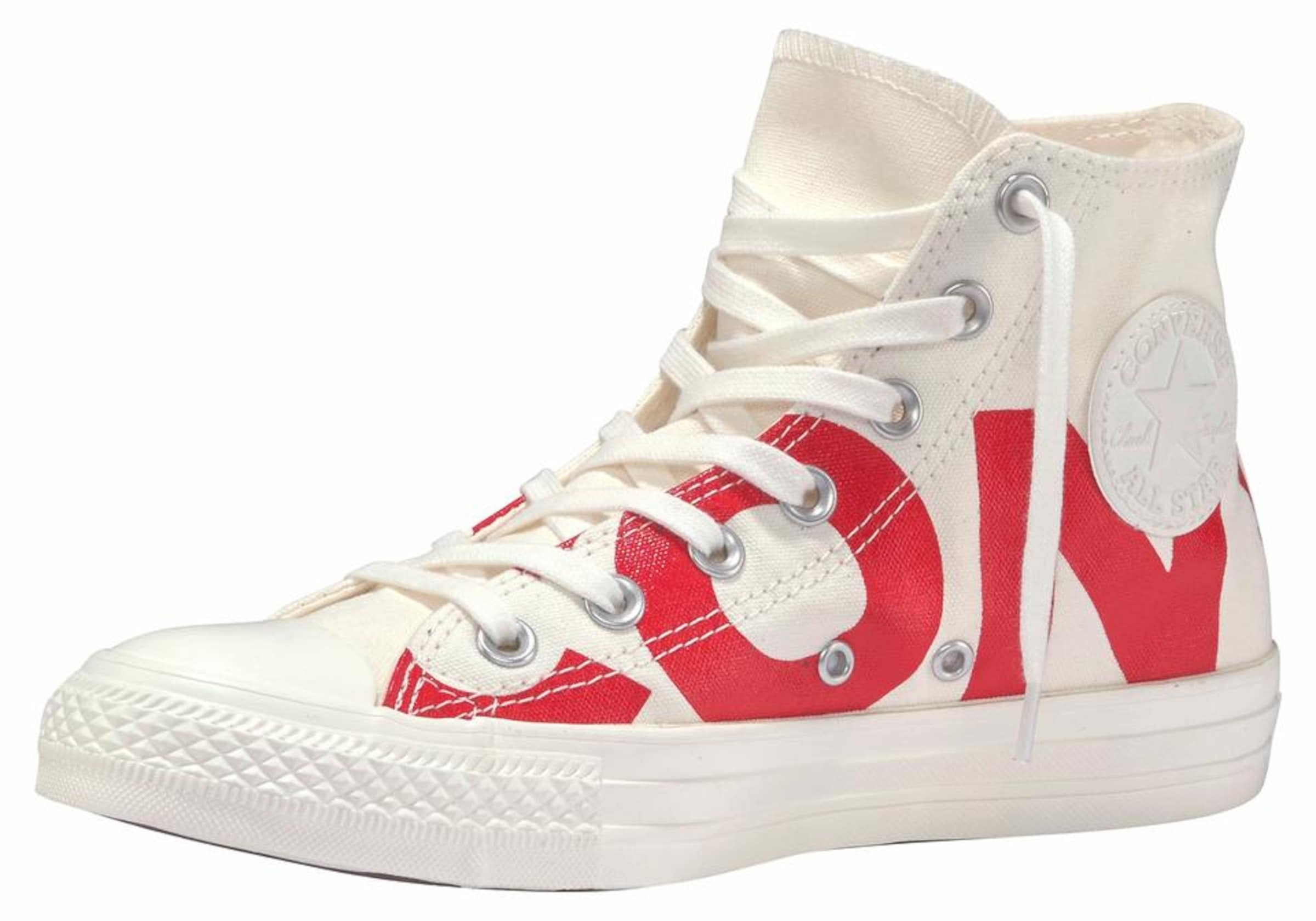Baskets Converse Hoog 'all Star Chuck Taylor' Rood / Wolwit 8fuVlEPLg
