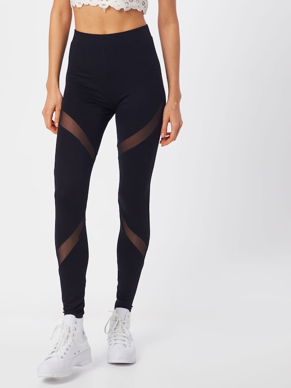 ABOUT YOU Leggings  'Rebecca' in schwarz, Modelansicht