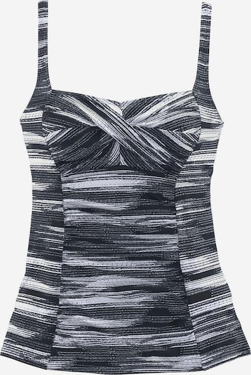 SUNSEEKER Tankini-Top 'Physical' in basaltgrau / weiß, Produktansicht