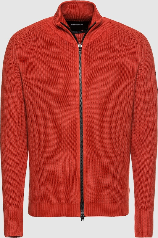 PEAK PERFORMANCE Strickjacke 'CURTIS ZIP Pullover' in rot  Bequem und günstig