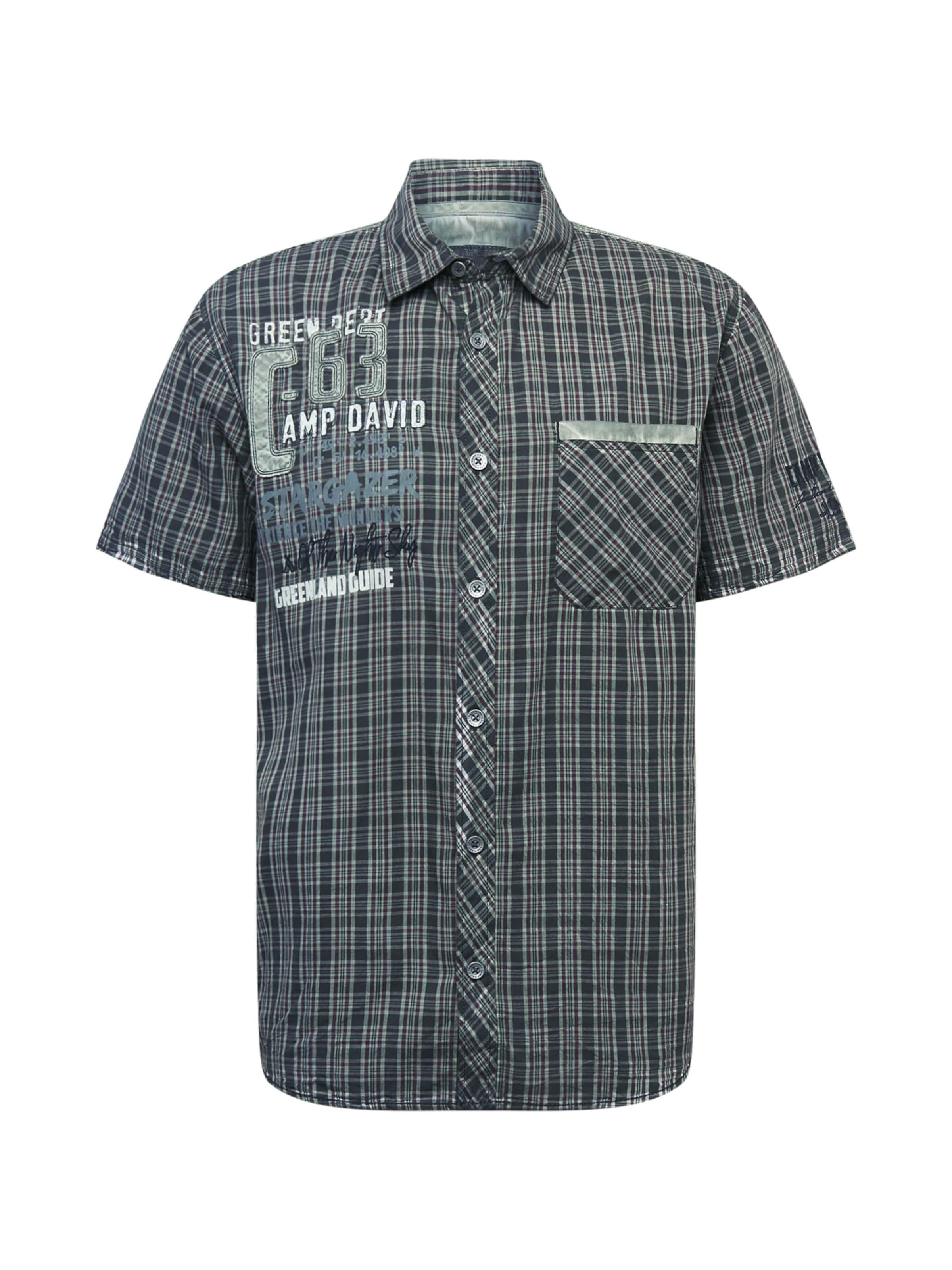 CAMP DAVID Skjorta i pastellgrön / mörkgrön