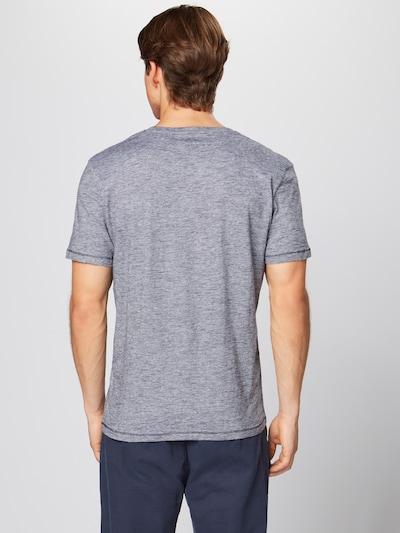 TOM TAILOR Shirt in de kleur Navy / Wit: Achteraanzicht