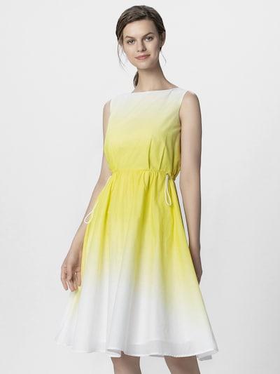 APART Kleid in gelb / weiß, Modelansicht