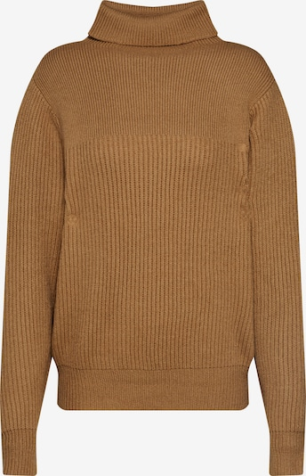 VILA Pullover 'CLOSED' in braun: Frontalansicht