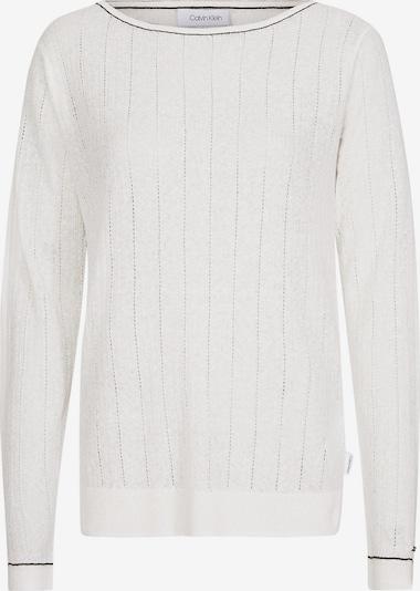 Calvin Klein Cotton Linen Boat Neck Jumper in weiß, Produktansicht