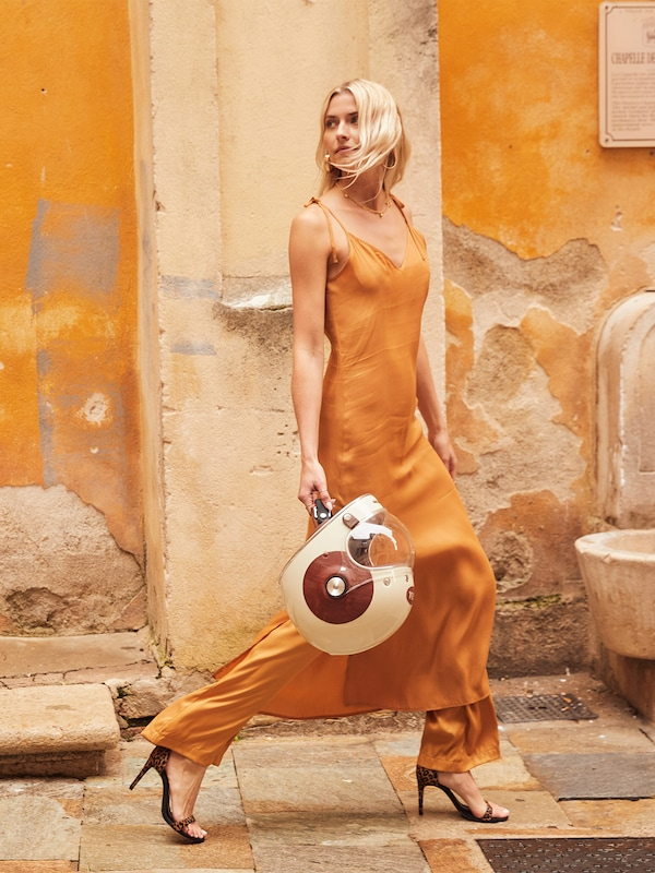 LeGer by Lena Gercke Kleid 'Gloria' in cognac, Modelansicht