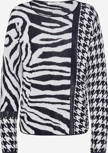 monari Pullover 'Zebra' in schwarz / weiß, Produktansicht